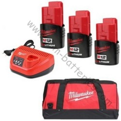 Pack batteries Milwaukee M12 2.0Ah +SAC