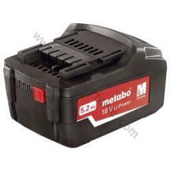 Batterie Metabo 18 volt /5.2 Ah Li-Ion