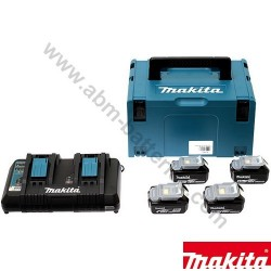Batterie pack energie Makita 18 v 5.0Ah 4 batteries et chargeur